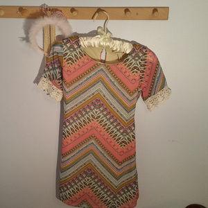 Speechless Size 8 Chevron Pattern Girls dress